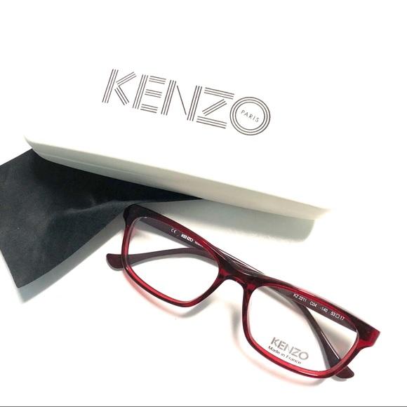 a0b354b9c41 New Kenzo Eyeglasses Burgundy